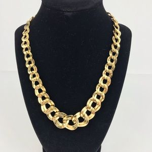 Vintage | Gold Tone Chunky Graduated Link Necklace